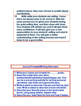 Writing Prompts! A Writing Program That Works!