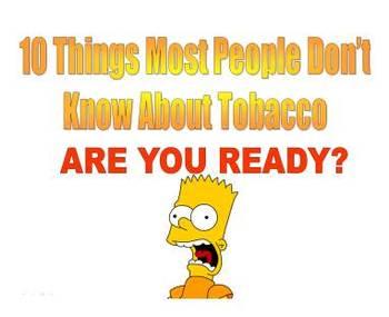 Ten Tobacco Reasons