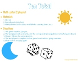 Ten Total (Math Center or Game)