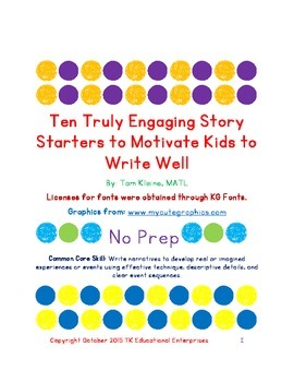 Original Ten Truly Engaging Story Starters to Motivate Kids to Write Well-Part 1