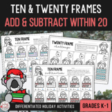 Ten & Twenty Frame Activities - Christmas Edition