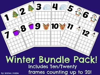 Ten/Twenty Frame Winter Bundle Pack (Numbers 1-20)