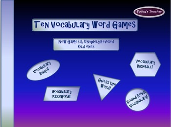 Ten Vocabulary Games