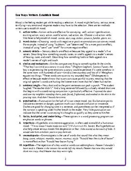 Ten Ways Writers Establish Mood