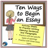 Ten Ways to Begin an Essay