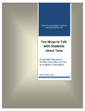 Ten Ways to Talk with Students about Tone