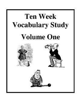 Ten Week Vocabulary Study - Volume One, Homework Worksheets