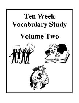Ten Week Vocabulary Study - Volume Two, Homework Worksheets