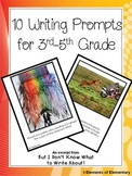 Ten Writing Prompts for 3rd-5th Grade Students
