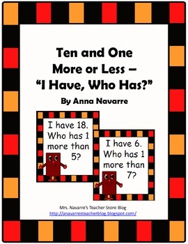 Ten and One More or Less - I Have, Who Has
