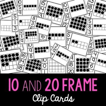 Ten and Twenty Frame Clip Cards