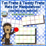Ten Frame & Twenty Frame Mats for Manipulatives! {one-time prep math tool}