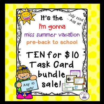 Ten for $10 Custom Task Card Bundle Sale