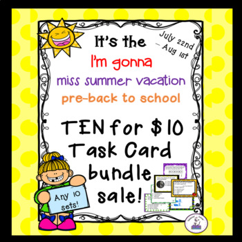 Ten for $10 Custom Task Card Bundle Sale