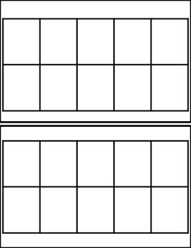 Ten frame Templates