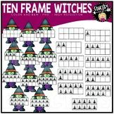 Ten frame Witches Clip Art Set
