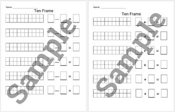 Ten frame add & sub