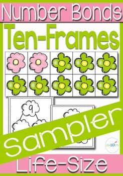 Ten-frame and Number Bond Life-Size Activity SAMPLER