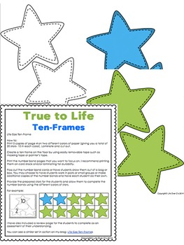 Ten-frame and Number Bond Life-Size Activity Star