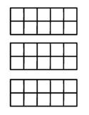Ten frame--blank