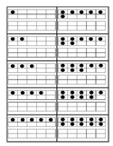 Ten frame cards with number and spelled number & Worksheet