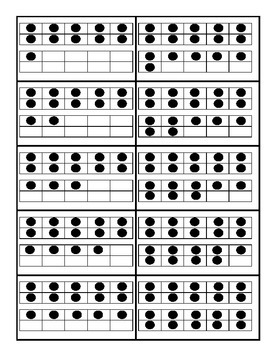 Ten frame cards with number and spelled number & Worksheet
