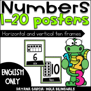 Ten frame posters- ENGLISH