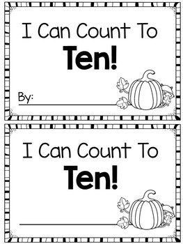 Fall Ten Frames Mini Book