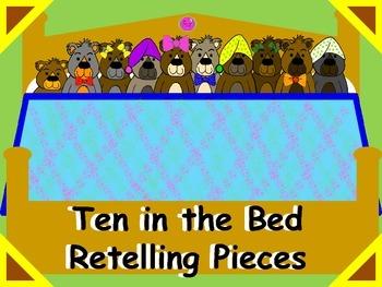 Ten in the Bed Retelling Pieces