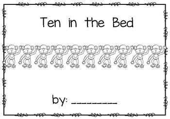 Ten in the Bed~ emergent reader
