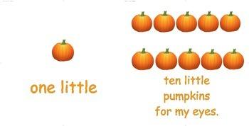 Ten little pumpkins emergent reader