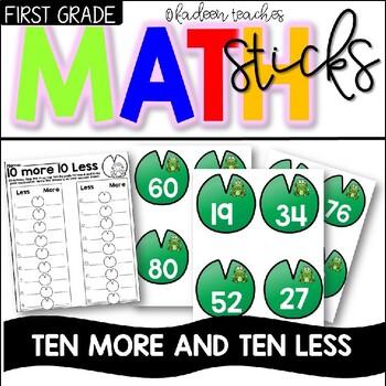 Ten more and Ten Less math sticks center