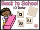Ten more and Ten less 1.NBT.C.5 - Back to School Theme