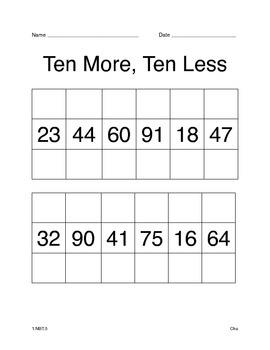 Ten more, ten less