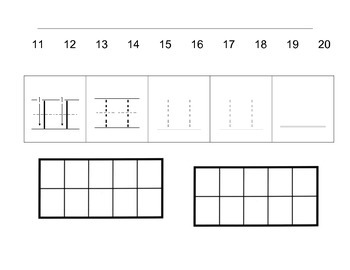 Place Value: Teen numbers represented in a ten frame