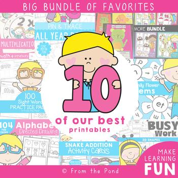 Kindergarten and First Grade Activities - Ten of Our Best Bundle