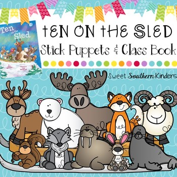 Ten on the Sled Stick Puppets & Writing Activity