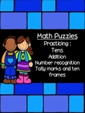 Ten plus- Addition puzzles- teen numbers