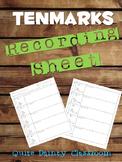 TenMarks Recording Sheet