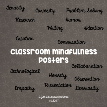 Tenants of Mindfulness Classroom Posters