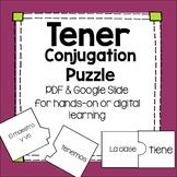 Tener Conjugation Puzzle practice for beginning Spanish