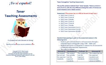 Tener  Teaching Assessments