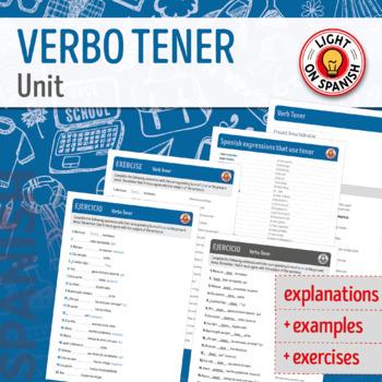 Spanish Verb Tener Unit