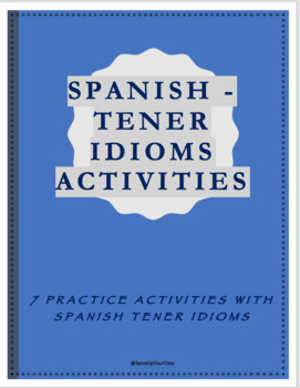 tener expressions worksheet by spicy spanish teachers pay teachers. Black Bedroom Furniture Sets. Home Design Ideas