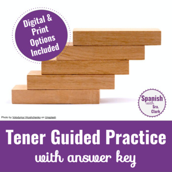 Tener Guided Practice with answer key