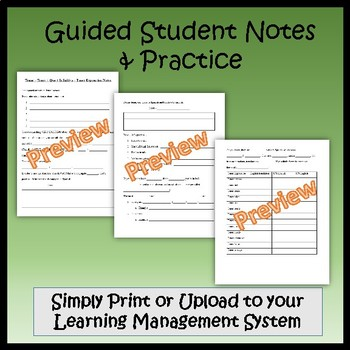 Tener - Spanish Guided Notes and Key