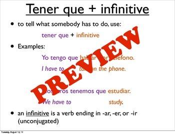 Tener & Tener Que + Infinitive Mega Set!