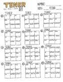 Tener ~Tic Tac Toe ~Spanish verb conjugation ~boot verb ~irregular verb
