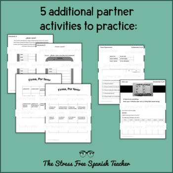 Tener & Venir Practice Activities reading writing speaking listening