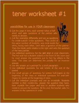 Tener Worksheet #1